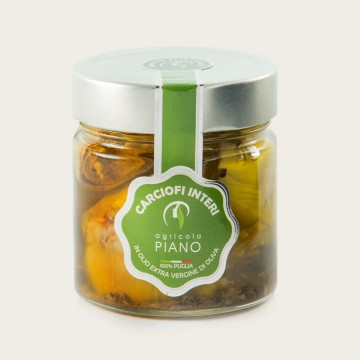 Carciofi interi in olio extravergine vaso 212 ml