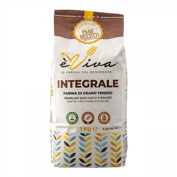 """Farina di grano tenero """"Integrale"""" con germe di grano vivo 1 Kg"""