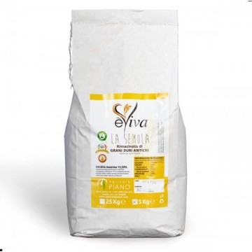 Semola rimacinata di grani duri antichi con germe di grano vivo 5 Kg