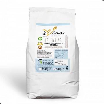 Farina di grano tenero tipo 0 biscotti con germe di grano vivo 5 Kg