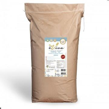 Farina di grano tenero tipo 0 pizza con germe di grano vivo 25 Kg