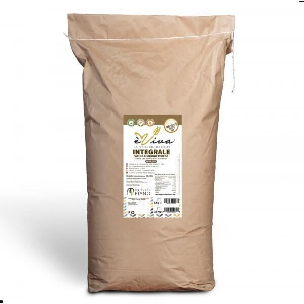 """Farina di grano tenero """"integrale"""" con germe di grano vivo 25 Kg"""