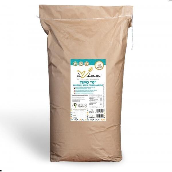 Farina di grani teneri antichi tipo 0 con germe di grano vivo 25 Kg