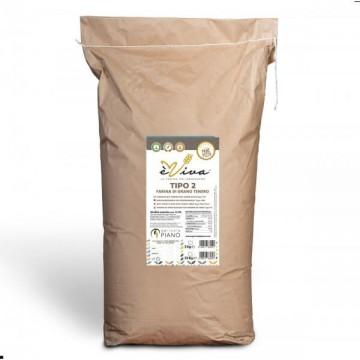 Farina di grano tenero tipo 2 con germe di grano vivo 25 Kg
