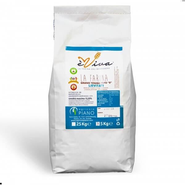 Farina di grano tenero tipo 0 lievitati con germe di grano vivo 5 Kg