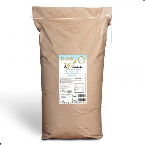 Farina di grano tenero tipo 0 biscotti con germe di grano vivo 25 Kg