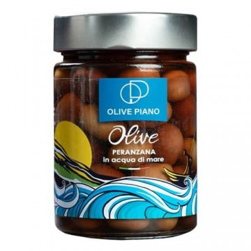 olives in sea water jar...