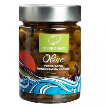 PITTED SPICED PERANZANA OLIVES JAR 314 ML