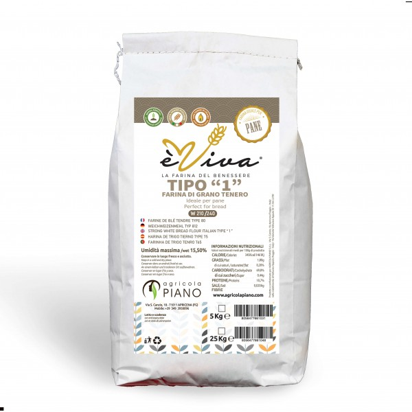 Strong white bread flour Italian type 1 with wheat germ 5 kg