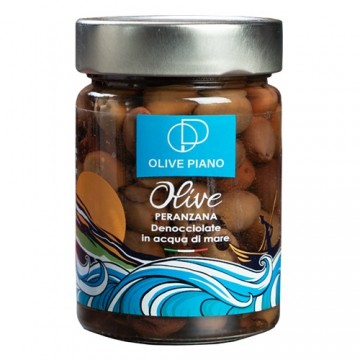 pitted olives in sea water...